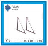Ce e de suporte do UL suporte de prateleira Trigonal para a chaminé