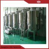 El tanque de almacenaje sanitario del agua de la fábrica