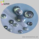 Botón de aluminio de la cubierta de la tela del metal