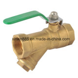 Strainer d'ottone Ball Valve con Butterfly Handle