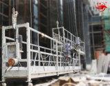 Plataforma de trabalho suspendida alumínio da segurança Zlp630 para a construção de edifício
