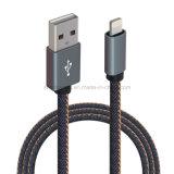 Câble de charge de caractéristiques de Jean USB de denim pour 5pin micro