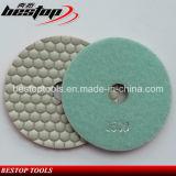 Tampón para pulir mojado seco flexible del diamante en enlace de la resina para el granito/el mármol/la piedra/el concreto/Terrazo