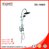 Edelstahl Shower Set mit Chromed Shampoo Box