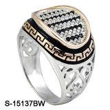 Fatoryの安い価格新しいデザイン925銀製の人のリング