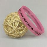 Einzelne Farben-Drucken-Großverkauf-Silikon-Gummi-Armbänder