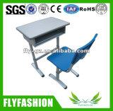 簡単な様式の黒の白い単一の学校の机および椅子(SF-31)
