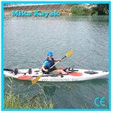 Fishing plástico Boat Sit em Top Canoe Kayak com Pedal e Rudder