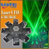 Luz verde do disco do estágio do UFO do raio laser 8 (SF-401)