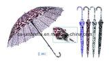 Gerader automatischer Wasser-Kräuselung-Drucken-Satin-Regenschirm