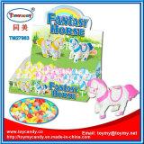 Plastik fantastisches Pferden-Spielzeug mit Süßigkeit oben wickeln