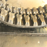 Pistes en caoutchouc d'excavatrice avec le noir de Chine 350*54.5k*86