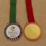 Médaille faite sur commande en métal de récompense d'école avec la couverture époxy