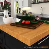 Jogos de madeira modulares dos gabinetes de cozinha da venda por atacado do abanador da laca com console