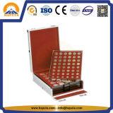 硬貨コレクションの記憶のためのアルミニウム硬貨の表示ホールダーの箱
