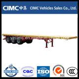 Cimc 3 Tentionの高い鋼鉄が付いている車軸40FT平面のトレーラー