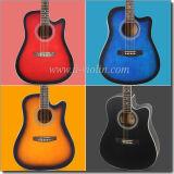 """[Winzz] 41 """" ABS Finerboard клена верхней части переклейки липа черный связывая акустическую гитару (AF229H)"""