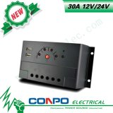 30A、12V/24V、USB、LEDのPWMの太陽コントローラ