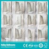 Прикрепленные на петлях двойные двери притертого стекла продавая просто дверь ливня Tempered стекла (SE706H)