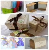 Творческая белая восьмиугольная бумажная коробка подарка 2016 с веревочкой