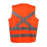 Gilet r3fléchissant de sûreté de visibilité élevée en gros de vêtements de travail