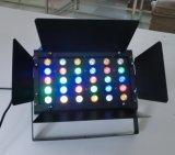 24PCS 3W RGBW Stadiums-Beleuchtung der Energien-LED mit Barndoor