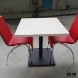 Acrílico superfície sólida mesas de centro e cadeiras para Shopping