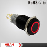 La boucle rouge de série de la CE TUV Hban Hbs2gq a illuminé 16mm Alluminum enclenchant des commutateurs de bouton poussoir