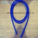 Manguito de goma azul del tubo de la cuerda