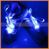 LEDはフラッシュ白熱伸縮性がある綴じひものナイロン靴レースをつける