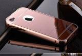 Amortecedor de alumínio requintado com a caixa acrílica chapeada espelho da tampa traseira para o iPhone 4/4s