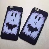Forma Funny Face Frosted Hard Plastic Cell Phone Caso para o iPhone Cover
