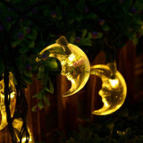 Mond Solar String Lights für Outdoor, Wedding, Weihnachtsfest (Yellow)