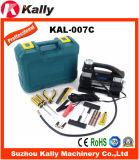 Compresor de aire del coche del cilindro del doble de la eficacia alta con el kit de reparación del neumático (KAL-007C)
