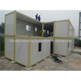 Casa pré-fabricada padrão do recipiente da casa para a acomodação