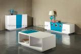 Mesa de centro elevada UV de madeira do lustro da mobília moderna (mar 501)
