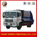 caminhão de lixo da compressa da movimentação 12m3 de 4X2 LHD