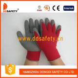 Gomma piuma Latex Coated Safety Gloves di String Knitted (DKL411)