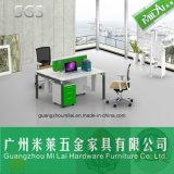 Preiswerter populärer Edelstahl-Bein-Büro-Schreibtisch mit beweglichem Schrank