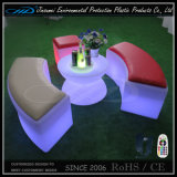 Taburete del cubo de los muebles del LED con el material plástico del PE