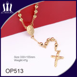 collier solide de Jésus d'or de talons de 6mm