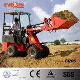 Everun Marke CER genehmigte das 0.8 Tonnen-Minirad-Ladevorrichtungperkins-Triebwerk