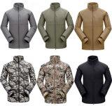 Sport esterni degli uomini che cacciano il rivestimento tattico di campeggio del panno morbido dei cappotti impermeabili