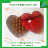 Rectángulo de regalo de papel rígido del embalaje de la dimensión de una variable del corazón de la cartulina