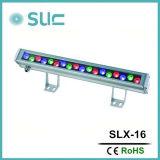 23W/46W는 방수 처리한다 RGB (Slx-16)에 있는 장식적인 옥외 빛 LED 벽 세탁기를