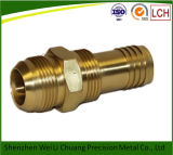 CNC por encargo Machining Parte de Brass Colored Brass con Thread