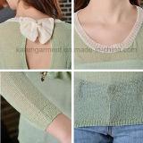 Пуловер выреза Вод-Падения Bowknot задний