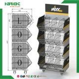 Estante conveniente del panel trasero del acoplamiento de alambre de la red del departamento del almacén
