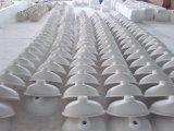 Bacia sanitária de superfície contínua acrílica do banheiro dos mercadorias do projeto novo
