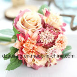 Flor artificial da alta qualidade do ramalhete de Rosa e de dália (SF15538)